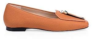 Stuart Weitzman Women's Slipknot Pebbled Loafers