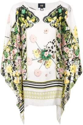 Class Roberto Cavalli draped printed blouse