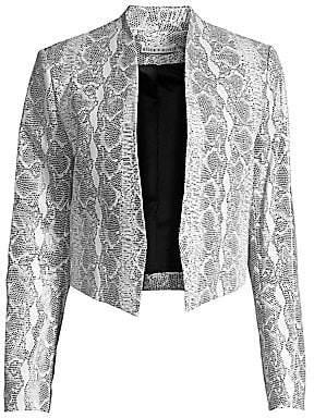 Alice + Olivia Women's Harvey Mesh Leather Jacket