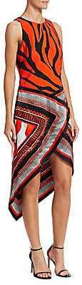 Roberto Cavalli Women's Silk Print Scarf Dress