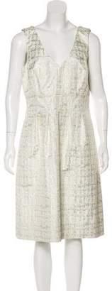 Lela Rose Silk Evening Midi Dress