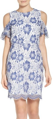 Women's French Connection Antonia Cold Shoulder Lace Dress $188 thestylecure.com