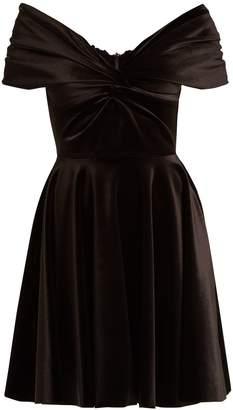 Emilio De La Morena Off-the-shoulder velvet dress