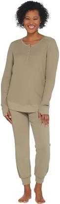 Anybody AnyBody Loungewear Petite Cozy Knit Waffle Pajama Set
