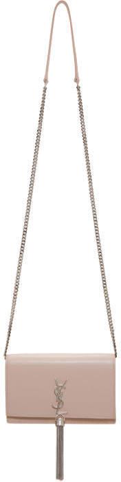 Saint Laurent Pink Kate Tassel Chain Wallet Bag