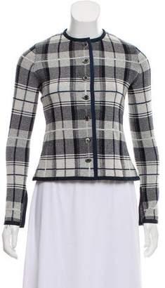Black Fleece Wool Plaid Jacket