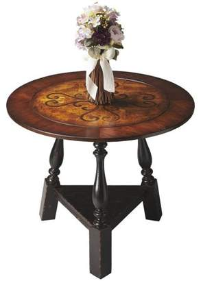 Butler Specialty Company Butler Olde Worlde Black and Tan Inlay Foyer Table