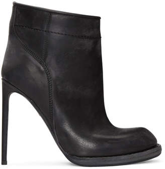 Haider Ackermann Black Heeled Ankle Boots