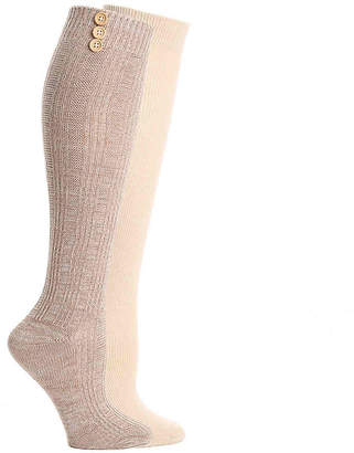 Mix No. 6 Button Knee Socks - 2 Pack - Women's
