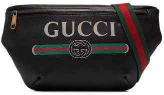 Gucci oversized logo print belt bag