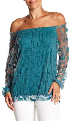 Lola Made In Italy Lace Off-the-Shoulder Top