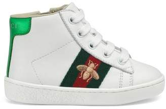Gucci Toddler leather high-top sneaker