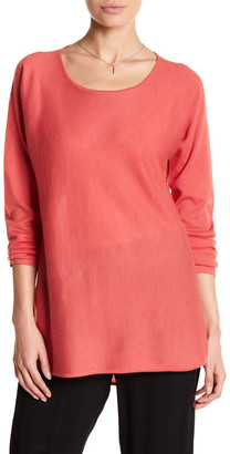 Eileen Fisher Ballet Neck Cashmere Tunic Sweater $338 thestylecure.com