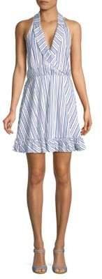 Caroline Constas Striped A-Line Dress