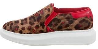 Alexander McQueen Animal Print Slip-On Sneakers w/ Tags