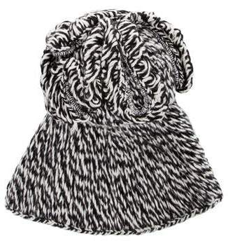 RED Valentino Patterned Knit Beanie