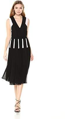 BCBGMAXAZRIA Azria Women's Savannah Color-Blocked Pleated Dress