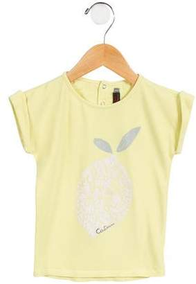 Catimini Girls' Glitter Graphic Knit Top