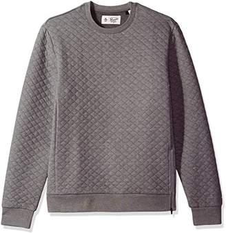 Original Penguin Men's Quilted Long Sleeve Crew Neck Sweater