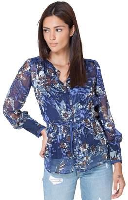 Hale Bob Donatella Silk Floral Blouse