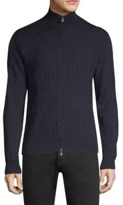Corneliani Wool Zip-Up Sweater