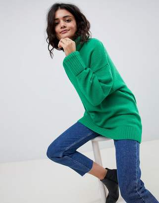 Asos Design DESIGN eco chunky jumper in oversize with high neck