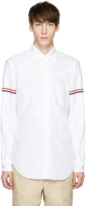 Thom Browne White Oxford Grosgrain Classic Shirt $450 thestylecure.com