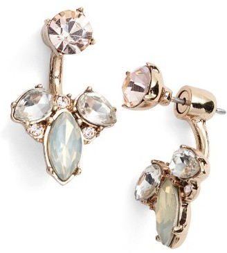 Women's Marchesa Paradise Small Flower Ear Jackets $48 thestylecure.com