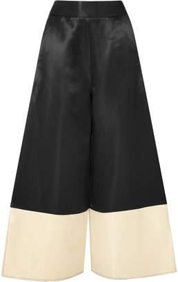 Beaufille Sina Two-tone Satin Wide-leg Pants