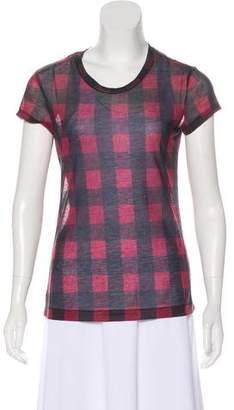Rag & Bone Gingham Short Sleeve T-Shirt