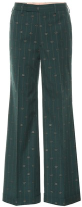 Gucci GG striped wool wide-leg pants