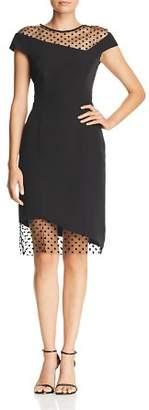 Milly Lillian Asymmetric Illusion Dress