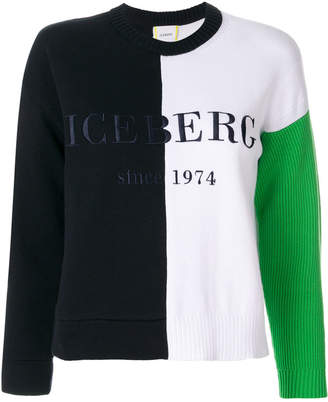 Iceberg colour block logo sweatshirt