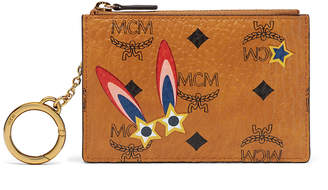 MCM Millie Key Pouch In Star Eyed Bunny Visetos
