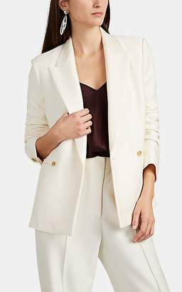 The Row Women's Lione Wool-Silk Double-Breasted Blazer - Ivory
