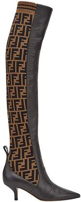 Fendi Rockoko thigh-high boots