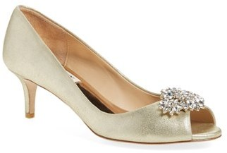 Women's Badgley Mischka 'Nakita Ii' Kitten Heel Peep Toe Pump $245 thestylecure.com