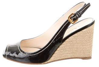 e45d62717 Prada Covered Wedge Women's Sandals - ShopStyle
