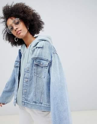 Weekday Girlfriend Denim Jacket with Wide Sleeve Detail
