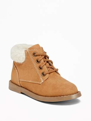 Old Navy Sueded Sherpa-Trim Boots for Toddler Boys