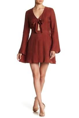 Line & Dot Rue Grommet Front Tie Dress