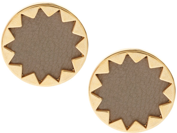 House of Harlow 1960 14ct Yell Gold Plated Sunburst Button Earrings