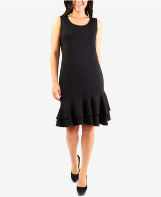 NY Collection Sleeveless Ruffle-Hem Shift Dress