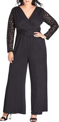 City Chic Seduce Lace Jumpsuit