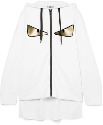 Fendi Wonders Oversized Printed Neoprene Hoodie - White