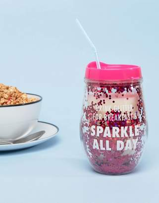 Paperchase Sparkle All Day Drink Beaker