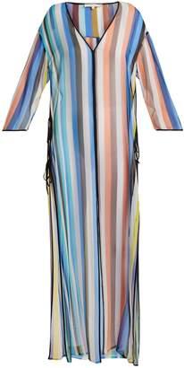 Diane von Furstenberg Striped silk maxi kaftan