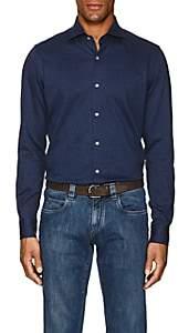Loro Piana Men's Mélange Cotton Shirt - Blue Pat.