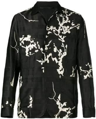 Haider Ackermann floral embroidered shirt