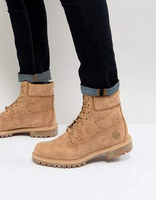 Timberland 6 Inch Tropical Laser Cut Boots